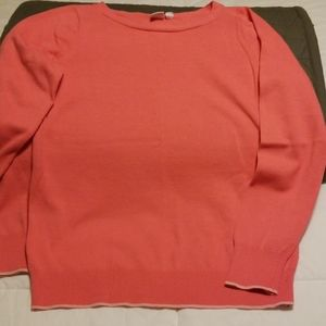 Gap peach/pink boatneck pullover sweater